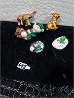 Elephant, Dog, Elf and Teddy Bear, Fish, and M