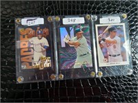 Three MLB Cards