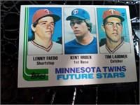 1982 Minnesota Twins Future Stars Topps Trading