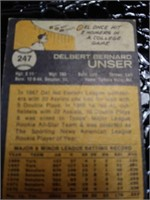 Del Unser Baseball Card