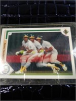 Rickey Henderson 1991 baseball card
