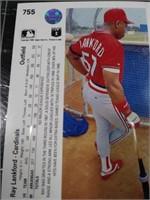 Ray Lankford 1990 baseball card