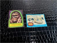 Two 1977 Star Wars Collectible Cards