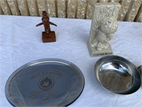 Lot of assorted decorative items, candleholders