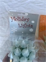 Holiday lights and glow light lot
