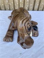 Lazy dog porcelain statue