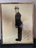 Charlie Chaplin framed photo