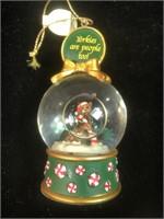Christmas ornaments-dog & the Yorker Snow Globe