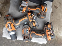 6pc Rigid cordless tool set