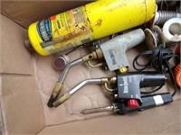 propane torch heads, tank, solder & Soldering gun