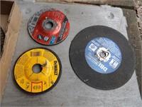 """cutoff wheels & 10"""" sawblade"""