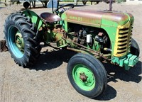 1955 Oliver Super 55, 3-pt, pto is non-operable, tire chains, runs good, SN: 22893-518.  NOTE: This item will be sold at live auction, however absentee bids can be placed if you are unable to attend the auction. More details, video & pictures can be viewed by clicking the catalog tab and view Lot #3.  Video available!