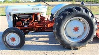 1955 Ford 800, 3-pt, pto, 4-cyl gas eng, runs, has carb issue, SN: 46613.  NOTE: This item will be sold at live auction, however absentee bids can be placed if you are unable to attend the auction. More details, video & pictures can be viewed by clicking the catalog tab and view Lot #4.  Video available!
