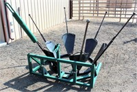 Tree-Toad Tree Spade; manual operated, 3-pt.  NOTE: This item will be sold at live auction, however absentee bids can be placed if you are unable to attend the auction. More details & pictures can be viewed by clicking the catalog tab and view Lot #9.