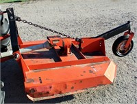 Douglas Rotary Mower, 3-pt, pto, 4'.  NOTE: This item will be sold at live auction, however absentee bids can be placed if you are unable to attend the auction. More details & pictures can be viewed by clicking the catalog tab and view Lot #14.