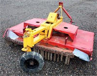 Rotary Mower, 6', 3-pt, pto.  NOTE: This item will be sold at live auction, however absentee bids can be placed if you are unable to attend the auction. More details & pictures can be viewed by clicking the catalog tab and view Lot #21.