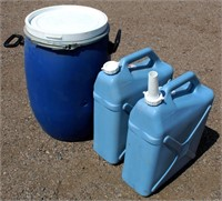 Plastic Water/Gas Containers