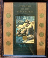 """Framed """"Spirit of the Forty Niners"""" w/Liberty Nickels"""