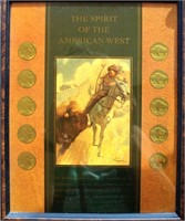 "Framed ""Spirit of the American West"" w/Buffalo Nickels"