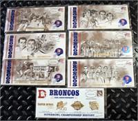 (7) Denver Broncos USPS Stamped Envelopes