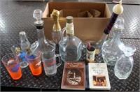 Misc Liquor Decanters, Beer Glasses, Etc