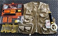 Fishing Vest, Gun Cleaning Kit