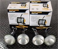 (2) Shop Lights, new in box; Misc Spot Light Bulbs
