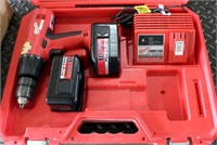 Milwaukee Cordless Drill, 2-batteries/charger w/case