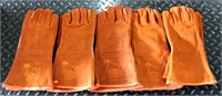 (5) Pr Leather Welding Gloves