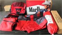 Marlboro Collectibles (metal sign, jacket size L, 2-gear bags, 2-tents)