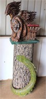 """Wooden Statue of a """"Mystical Creature"""" (view 1)"""