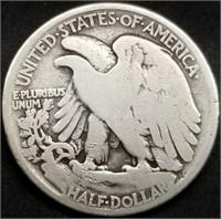 1921 Walking Liberty Silver Half Dollar Key Date