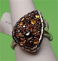 695.00$ JOHN HARDY STERLING COLOR STONE RING