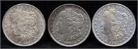 3 - 1921 Morgan Silver Dollars