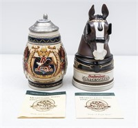 Budweiser Clydesdale Members Only Steins