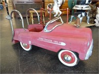 Vintage Little Red Pedal Car Fire Truck