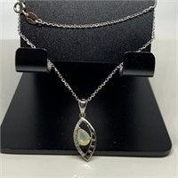 STERLING SILVER OPAL NECKLACE