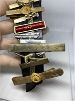 LOT OF VTG TIE CLASPS / SOUTHWESTERN BELL MORE