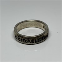 STERLING SILVER BANDED RING