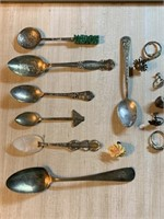LG LOT OF STERLING SILVER SPOONS (SEE ALL PICS)