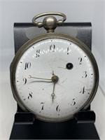 LG ANTIQUE STERLING SILVER CASE POCKET WATCH NOTE