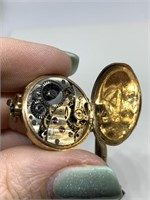 ANTIQUE GOLD THEMED POCKET WATCH