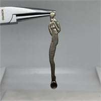 """STERLING SILVER NUDE """"PARTY"""" SPOON"""