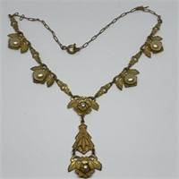 ANTIQUE GOLD FILL VICTORIAN NECKLACE
