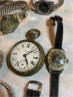 LARGE LOT OF WATCHES / PARTS AS IS