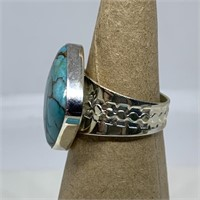 STERLING SILVER TURQUOISE RING JAY KING