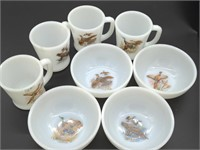Fire-King Ware 8- Piece Bowl and Coffee Cup Set