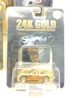 (4) 24k Gold Series Cars
