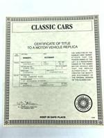 1962 Chevrolet Corvette Die Cast Replica
