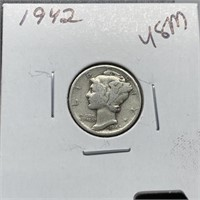 1942 MERCURY SILVER DIME
